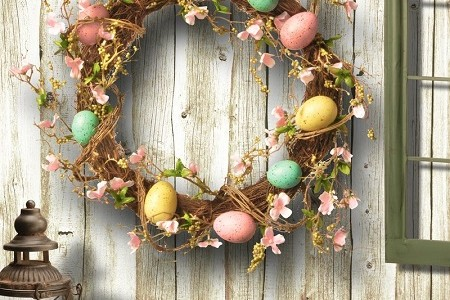 15 Beautiful Easter Door Wreaths – Easter Door Decorations