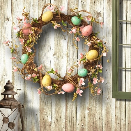 15 Beautiful Easter Door Wreaths – Easter Door Decorations