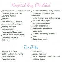 Pregnancy Hospital Bag Checklist