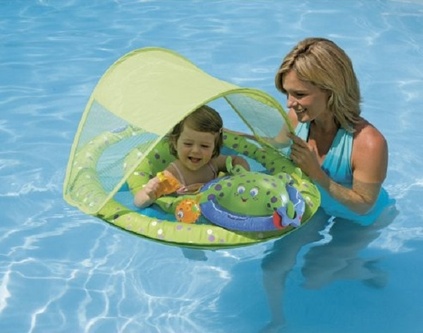 SwimWays Baby Spring Float Activity Center with Canopy Review