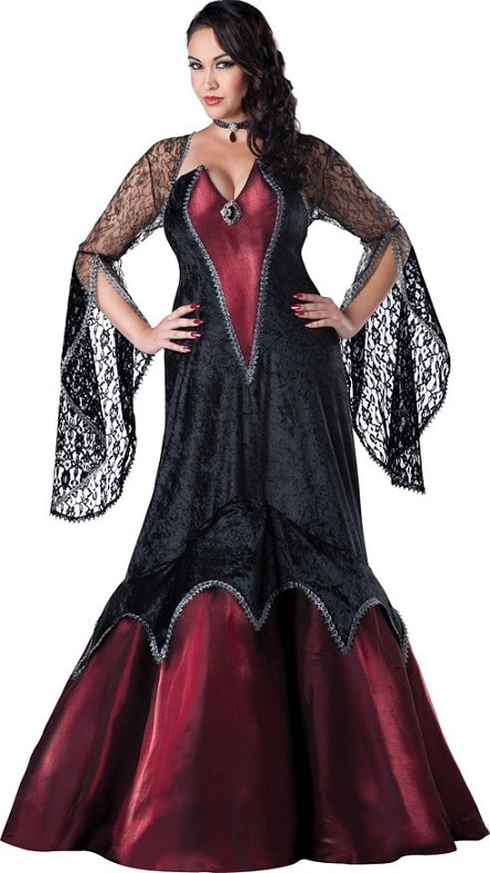 Women's Plus-Size Midnight Vampires | sexy halloween costumes for curvy women