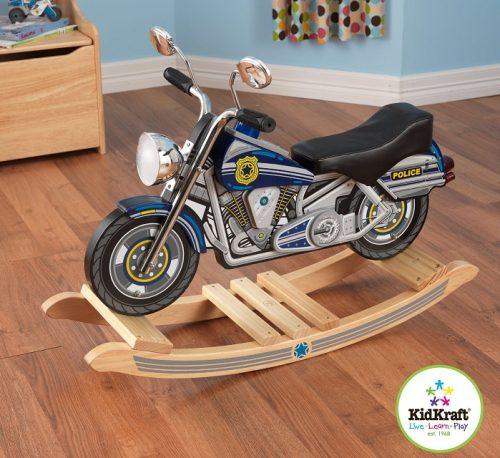 KidKraft Police Motorcycle Rocking Horse
