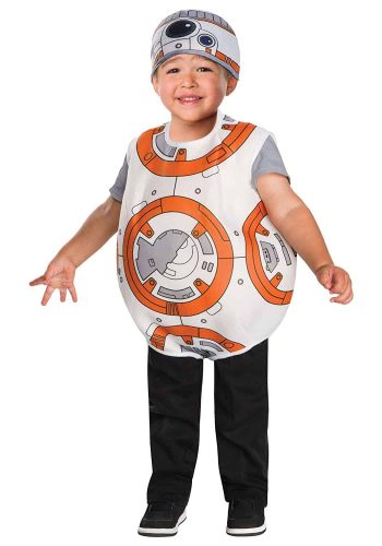 Star Wars BB-8 Costume for Toddlers - Cute Toddler Star Wars Costume consisting of a romper with velcro closures at back and crotch. Includes hat.