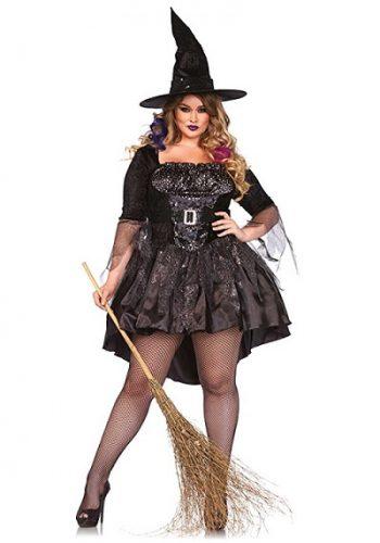 Women's Plus-Size Black Magic Mistress - Women's Plus Size Witch Costume