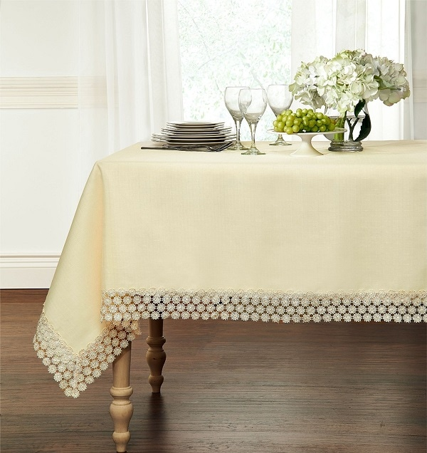 Macrame Trim Tablecloth - A stylish addition to any table