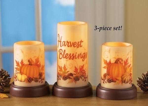 fall led candles