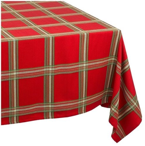 Lenox Holiday Gathering Plaid Tablecloth - Tablecloths for Christmas