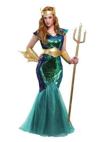 Sexy Plus Size Mermaid Costume - Goddess of the Sea Halloween Costume #halloweencostume #mermaid