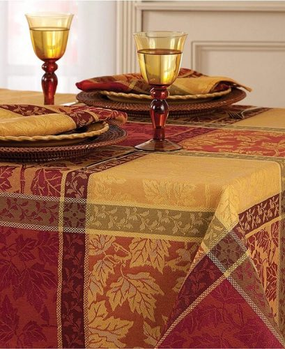 Rust, Gold and Orange Tablecloth
