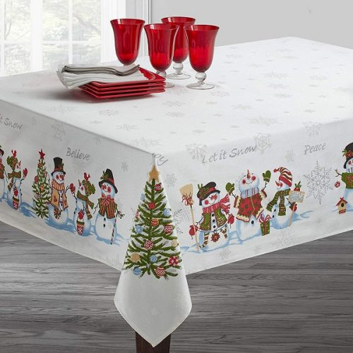 Snowman Tablecloth for Winter and Christmas