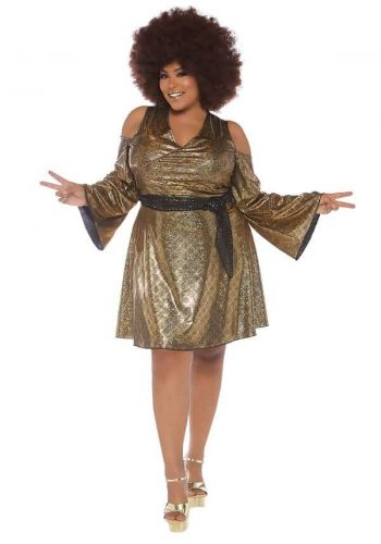 Women's Plus Size Disco Costume
