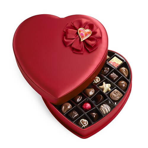 Valentine's Day Fabric Heart Chocolate Gift Box - Valentine's Day Gifts for Her