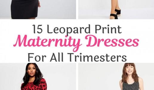 Top 15 Leopard Print Maternity Dresses