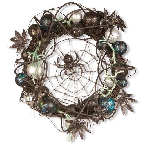 Halloween Wreath with Spider