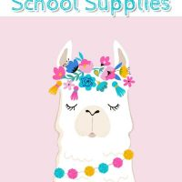 Cute Llama School Supplies | Back to School