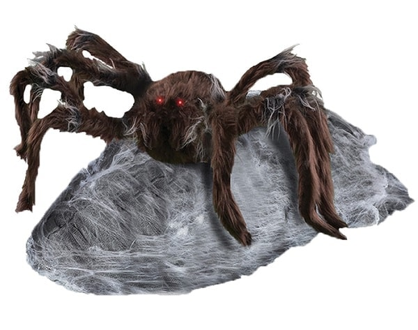 Brown Jumping Animated Spider - Animated Halloween DecorationsBrown Jumping Animated Spider - Animated Halloween Decorations