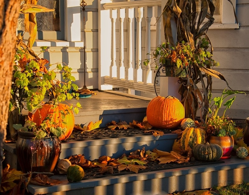 Fall Self Care Ideas - Fall Front Porch