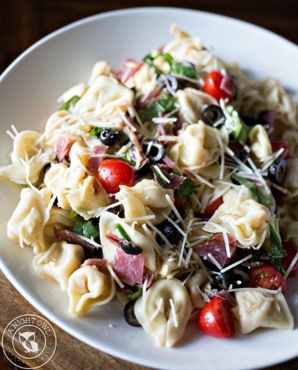 Tortellini Pasta Salad with Salami