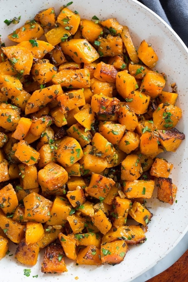 Roasted Butternut Squash with Garlic and Herbs
