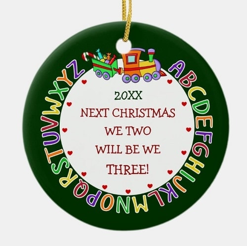 Expecting Mom Christmas Ornament 1st Baby