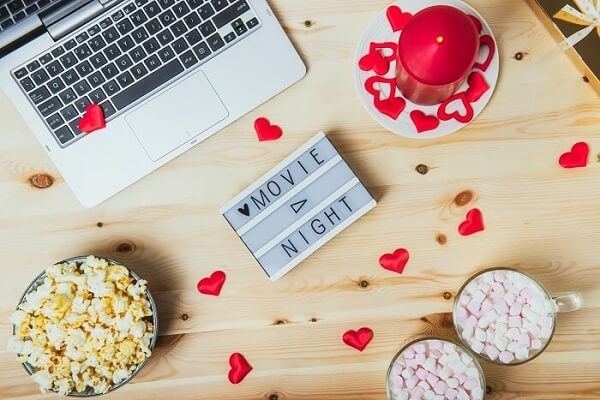 At Home Valentine's Day Ideas - Movie Night
