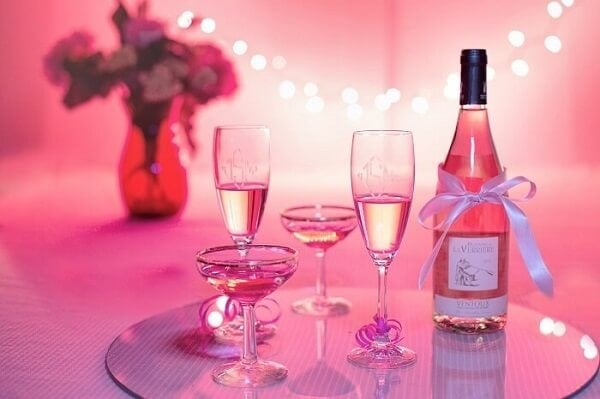 At Home Valentines Day Ideas - Wine Tasting