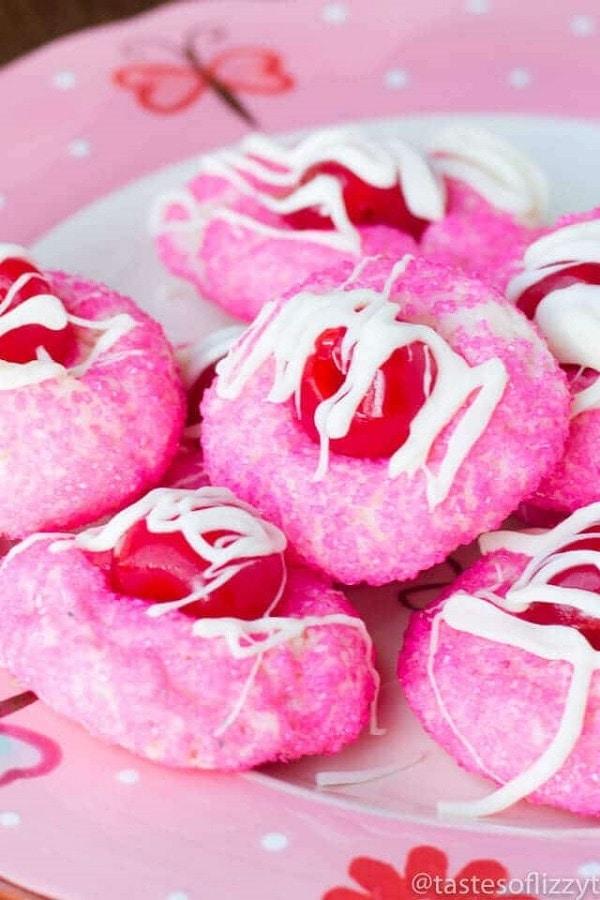 Cream Cheese Cherry Cookies