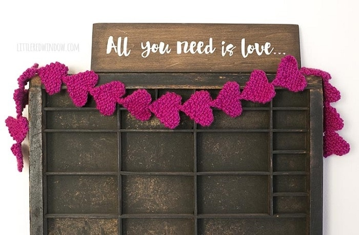 Knit Heart Garland