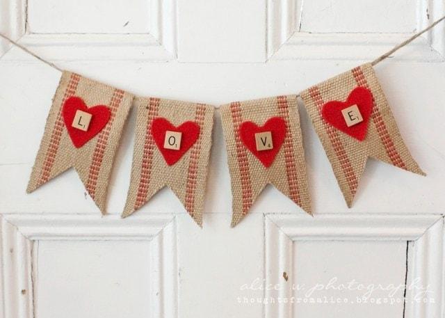 Rustic Valentine's Love Banner