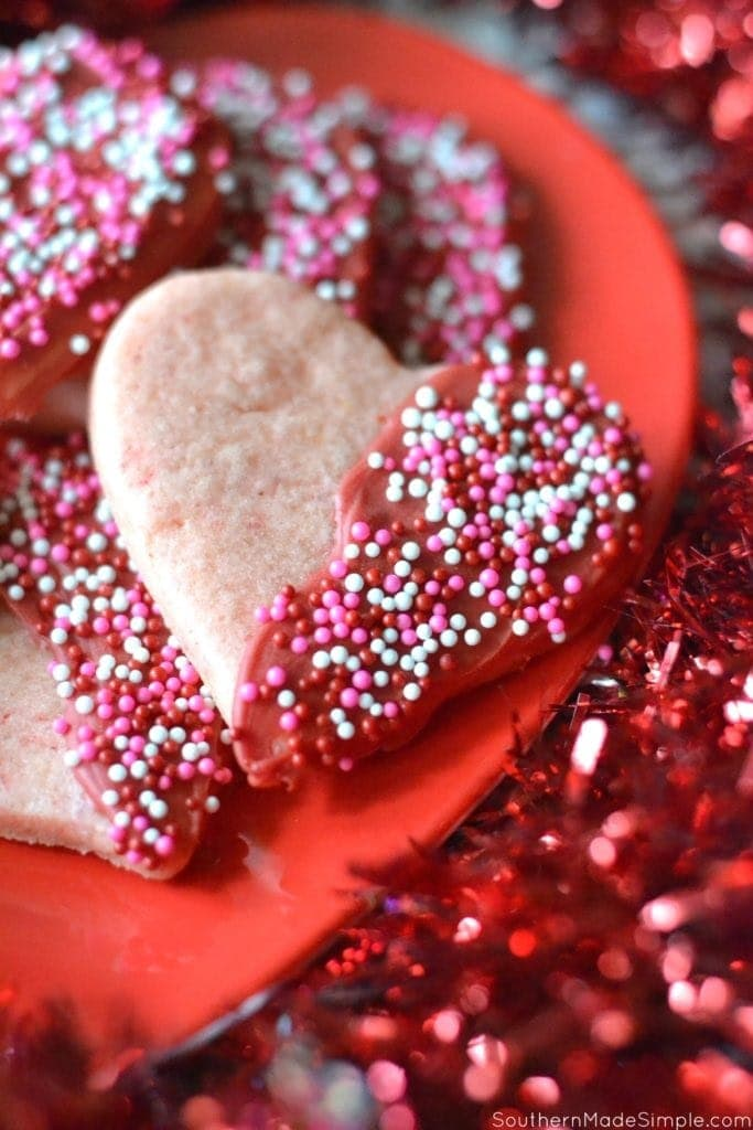 Simple Valentine's Day Sugar Cookies
