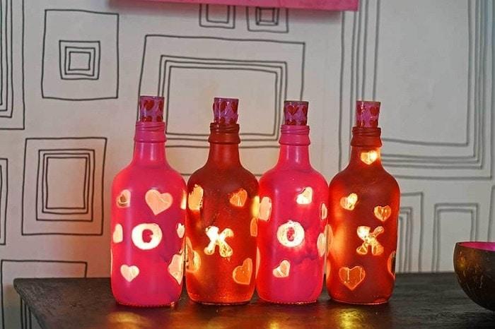 Valentine's Bottle Lights