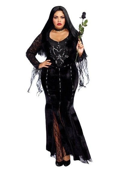Women's Mortuary Mama Plus Size Costume - Sexy Plus Size Vampire Costumes