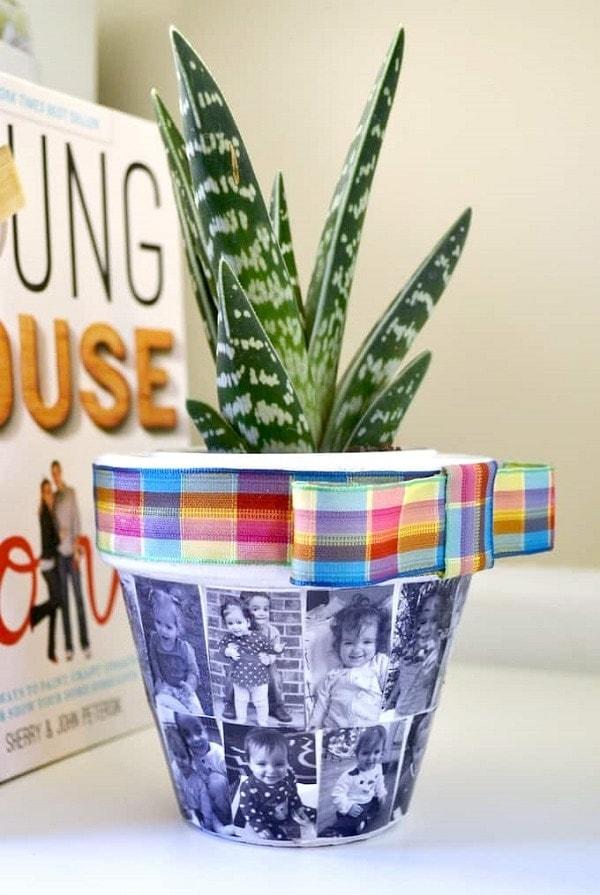 Mod Podge DIY flower pot