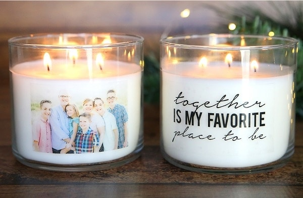 Personalized Candles - DIY Mother's Day Gifts