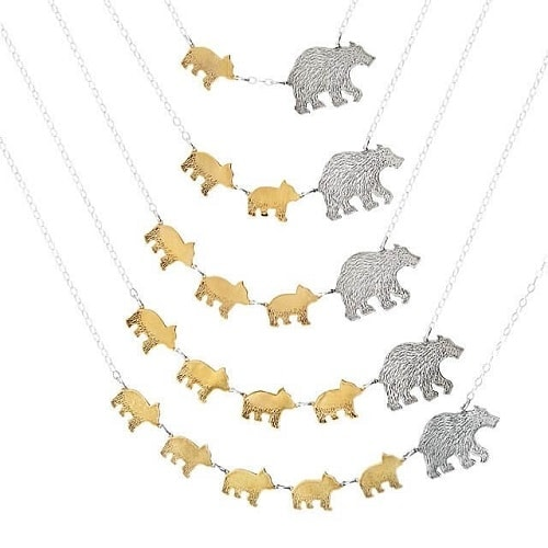Mama Bear Necklaces - Gifts for New Moms