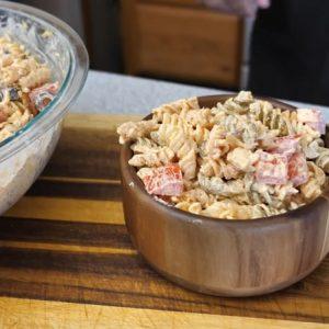 Cajun Ranch and Bacon Pasta Salad