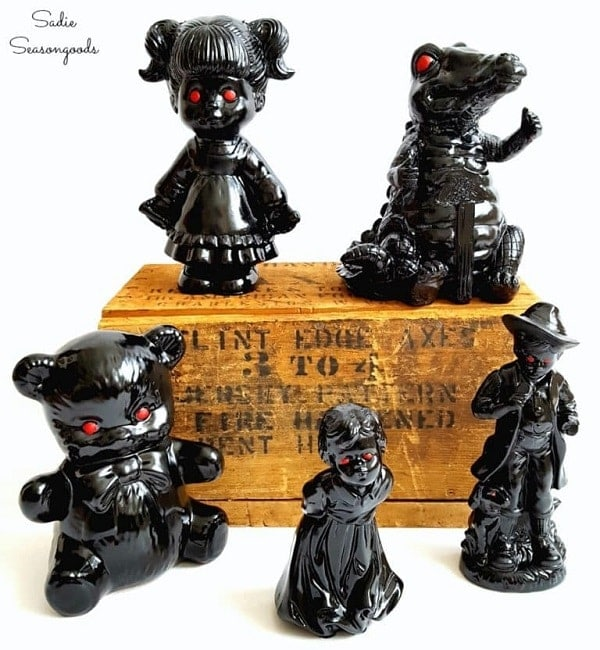 Halloween Figurines With Demon Eyes