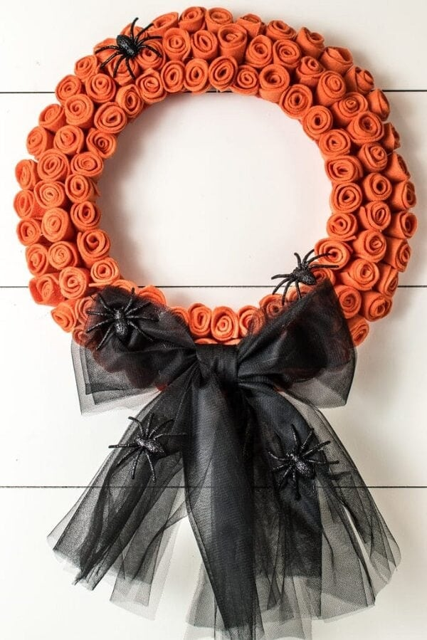 Dollar Store DIY Halloween Wreath