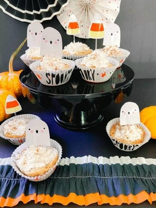 Low-Carb Caramel Pumpkin Cheesecakes