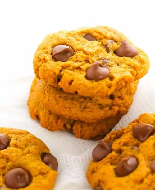 Pumpkin Chocolate Chip Cookies - Thanksgiving Desserts with Pumpkin