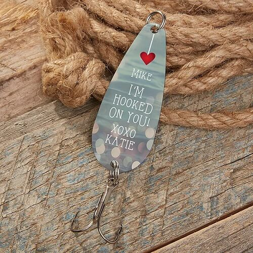 I'm Hooked On You Personalized Fishing Lure
