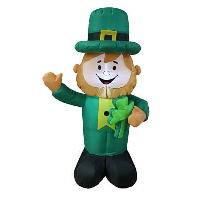 4 ft. Saint Patrick's Day Leprechaun Holding Shamrock Inflatable