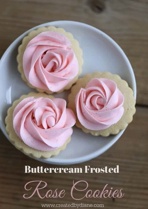 Buttercream Rose Frosted Cookies