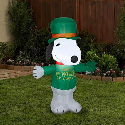 Snoopy St. Patrick's Day Inflatable